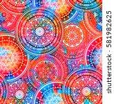 seamless multicolor pattern... | Shutterstock . vector #581982625