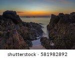 coral rock beach at sunset koh... | Shutterstock . vector #581982892