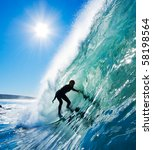 surfer in the barrel | Shutterstock . vector #58198564