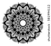 mandalas for coloring book.... | Shutterstock .eps vector #581994112