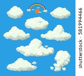 cloud cartoon style vector... | Shutterstock .eps vector #581994466