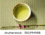 manners of powdered green tea... | Shutterstock . vector #581994988