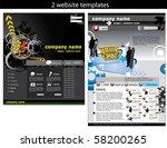 2 website design templates easy ... | Shutterstock .eps vector #58200265