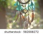 soft focus on dream catcher... | Shutterstock . vector #582008272