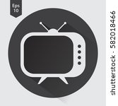 old tv flat icon. simple symbol ... | Shutterstock .eps vector #582018466