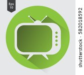 old tv flat icon. simple symbol ... | Shutterstock .eps vector #582018592