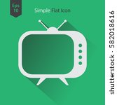 old tv flat icon. simple symbol ... | Shutterstock .eps vector #582018616