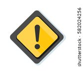 exclamation danger sign... | Shutterstock . vector #582024256