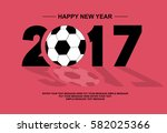 2017 happy new year football red | Shutterstock .eps vector #582025366