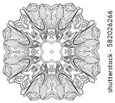 vector illustration of celtic... | Shutterstock .eps vector #582026266