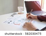 business documents on office... | Shutterstock . vector #582030475