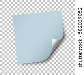 square blue paper sticker... | Shutterstock .eps vector #582039052