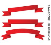 3 red banners   Shutterstock .eps vector #582039958
