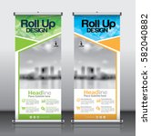 roll up brochure flyer banner... | Shutterstock .eps vector #582040882