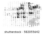 grunge black and white urban... | Shutterstock .eps vector #582055642