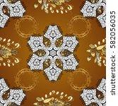 gold template. royal retro... | Shutterstock . vector #582056035