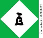 money bag  icon. vector design.