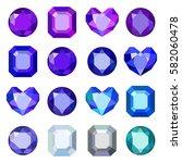 gems isolated on white...   Shutterstock .eps vector #582060478