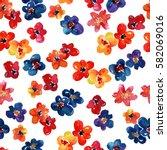 seamless watercolor pattern...   Shutterstock . vector #582069016