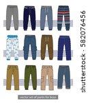 vector set of pants for boys | Shutterstock .eps vector #582076456