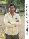indian hindu man closeup in...   Shutterstock . vector #582078712