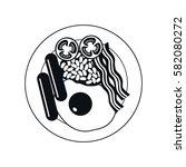 breakfast icon. full english... | Shutterstock .eps vector #582080272