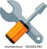 tools icon | Shutterstock .eps vector #582081982