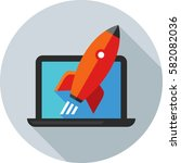 website launch icon | Shutterstock .eps vector #582082036
