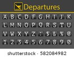 Abc Flipping Panel  Departure...