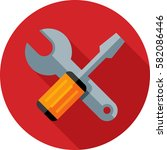 tools icon | Shutterstock .eps vector #582086446