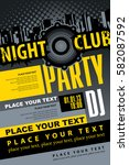 music concept dj party poster... | Shutterstock .eps vector #582087592