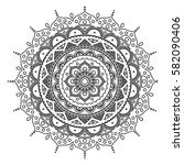 mandala. coloring book pages.... | Shutterstock .eps vector #582090406
