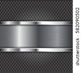 metal perforated background... | Shutterstock .eps vector #582090502