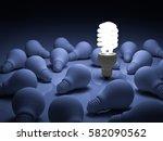 energy saving light bulb   one... | Shutterstock . vector #582090562