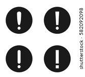 set of white exclamation mark...