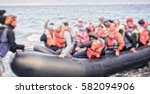 the refugees migrate to europe. ... | Shutterstock . vector #582094906