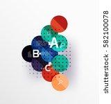 round modern circle option... | Shutterstock .eps vector #582100078