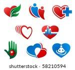 eight different cartoon heart...   Shutterstock .eps vector #58210594