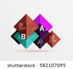 geometric square and triangle... | Shutterstock .eps vector #582107095