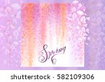 advertisement about the spring... | Shutterstock .eps vector #582109306
