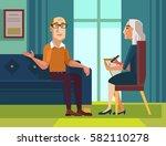 patient character talking to... | Shutterstock .eps vector #582110278