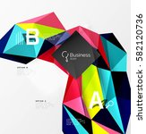 3d polygonal object triangles ... | Shutterstock .eps vector #582120736