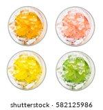 set of four colors cocktails ... | Shutterstock . vector #582125986