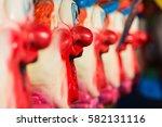 closeup of clown faces at...   Shutterstock . vector #582131116