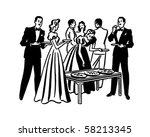 cocktail party   retro clip art | Shutterstock .eps vector #58213345