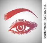 illustration with woman's eye... | Shutterstock .eps vector #582137416