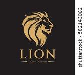 lion logo design template. lion ... | Shutterstock .eps vector #582143062