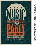 music party poster template and ... | Shutterstock .eps vector #582151666