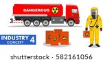 industry concept. detailed... | Shutterstock .eps vector #582161056