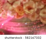 blur pink roses and glitter